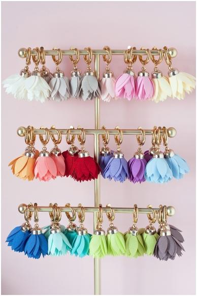 """Earrings """"Peach Bloom"""" 2"""