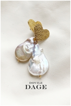 "Earrings ""Baroque love"""