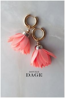 """Earrings """"Peach Bloom"""""""