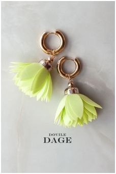 "Earrings  ""Neon Bloom"""