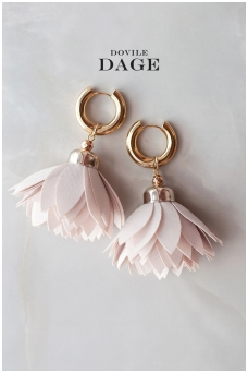 "Earrings ""Latte Bloom"""