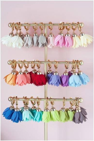 """Earrings """"Sky Bloom"""" 2"""
