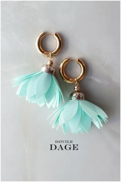 """Earrings """"Aqua Bloom"""""""