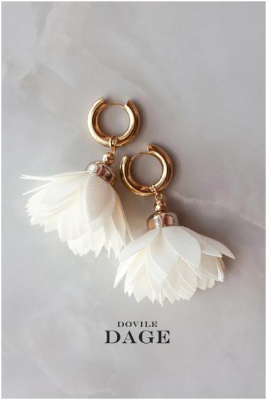 """Earrings """"Cream Bloom"""""""