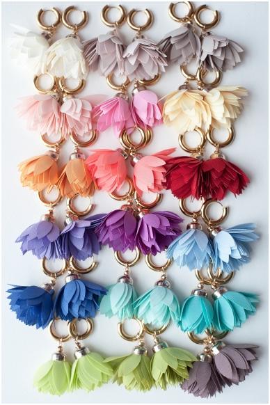 """Earrings """"Mimosa Bloom"""" 3"""