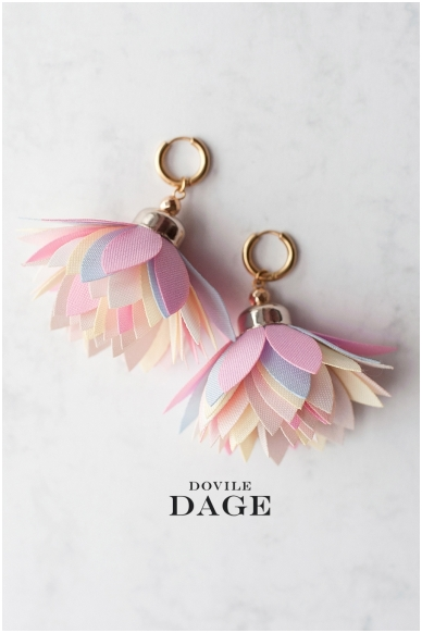 "Earrings  ""Pastel Bloom"""