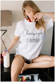 "T-shirts ""Champagne & diamonds"""
