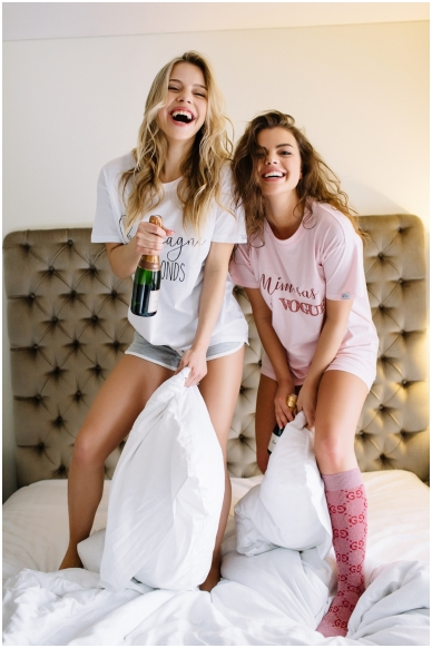 "T-shirts ""Mimosas & Vogue"" 2"