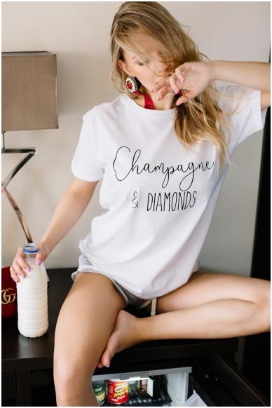 """T-shirts """"Champagne & diamonds"""""""