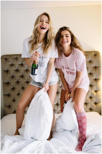 """T-shirts """"Champagne & diamonds""""  2"""